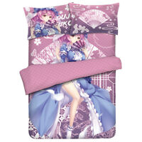 High school dxd Anime rossweisse Bed Sheet Soft Flannel Blanket Bedclothes1.5x2M