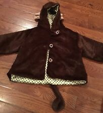 NWOT Bearington Baby Collection Soft Minky Monkey Coat 6-12 Months