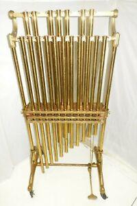 Vintage Deagan Orchestra Chimes Tubular Bells Brass C-F No Cracks Free Shipping