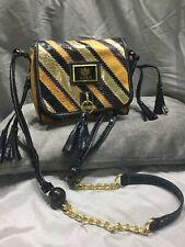 gorgeous LYDC shoulder bag gold, purple, mustard gold chain strap