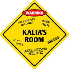 """*Aluminum* Kalia's Room Kids Room Door 12""""x12""""  Metal Novelty Sign"""