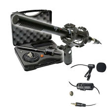 Vidpro XM-55 13-Piece 11' Condenser Shotgun Microphone Kit + Lavalier Microphone
