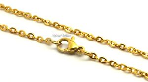 24k GOLD PLATED LINK CABLE NECKLACE ALL LENGTHS GOLD CHAIN
