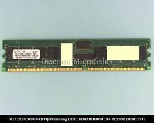 Samsung M312L2920BG0-CB3Q0 DDR 1GB PC-2700 Reg ECC 333Mhz 1Rx4 RAM Memory