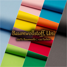 Baumwollstoff Uni 100% BaumwollePopeline OEKO-TEX® Meterware ab - Auswahl #2