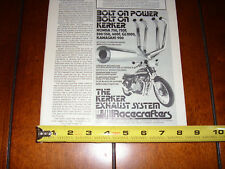 1976 KERKER KAWASAKI 900 RACECRAFTERS - ORIGINAL AD