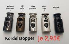 Metall - Kordelstopper 2 Loch in verschiedenen Farben