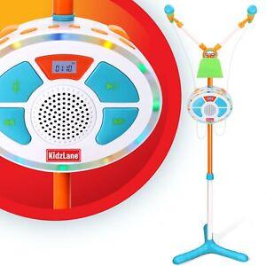 Kidzlane Kids Karaoke Machine and Music Player with Two Mics, Bluetooth and Aux