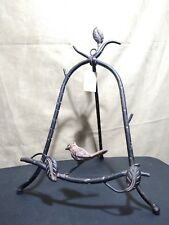 Wrought Iron Picture Art Book Stand Easel Holder with bird on Front New