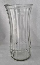 Hoosier Glass Vase Indiana Vtg Flared Lip Ribbed Clear Mid Century 4089 C 2B