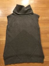 Autumn Cashmere Brown Cashmere Pull Over Turtleneck Sweater Size Large