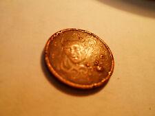 2 centimes Euro France FAUTEE - Surplus de métal sur les 2 faces - 2 photos