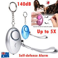 140dB Personal Alarm Keychain Rape Attack Panic Security Emergency Alert Torch
