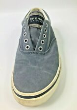 Sperry Top-Sider Men Slate Blue Cotton 0772905 Deck Boat Casual Walk Shoes US 8
