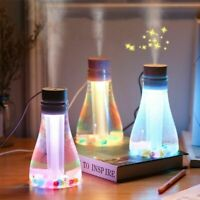 Air Humidifier Ultrasonic Mist Maker Fogger With Colorful LED Light USB Diffuser