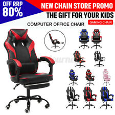 Ergonomic Office Chair Computer Racing Gaming Chair Recliner Leather Desk