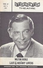 """Milton Berle """"LAST OF THE RED HOT LOVERS"""" Peggy Cass / Neil Simon 1972 Playbill"""