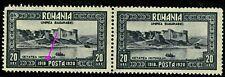 1928 Bessarabia,Basarabia,Fortress Hotin,Romania,Mi.335+335 I,CV$220,MNH ERROR/1