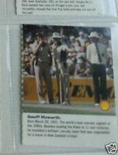 #12 carte de cricket capitaine Geoff Howarth Kiwi
