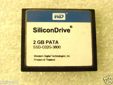 SiliconDrive 2GB PATA CF Industrial Temp WD SSD-C02G-3800 COMPACTFLASH TESTED