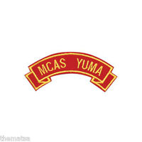 MARINE CORPS MCAS YUMA MILITARY EMBROIDERED USMC RED SHOULDER ROCKER PATCH