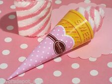 12 Strawberry Swirl Cone Towel Favor wedding bridal shower birthday favors