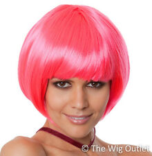 PARTY BOB WIG HOT PINK Cosplay Costume Fancy Dress Hens Night Party Womens Dance