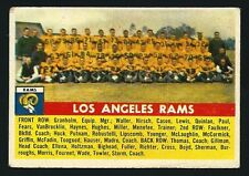 1956 Topps Football Card # 114 - Los Angeles Team Card