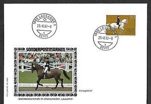 SWITZERLAND 1982 FIRST DAY COVER, WORLD DRESSAGE CHAMPIONSHIP !!!