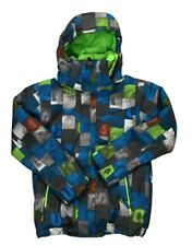Quiksilver Youth Dri Flight Mission Jacket Hooded Size S 10 Snow Ski Snowboard