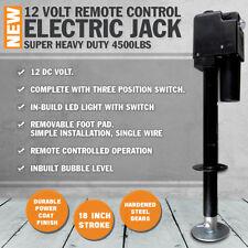 NEW 12 Volt Remote Control Electric Jack w/ 4500LBS Suit Caravan Boat RV Trailer