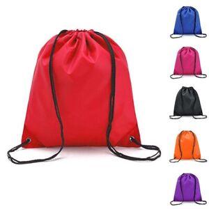 Unisex Travel Drawstring Waterproof Rope Bags Outdoor Backpack Casual School Bag
