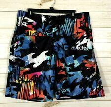 Men's Billabong Swim Trunks Board Shorts Pocket Black Waves 36
