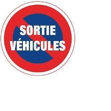 DISQUE Diam. 220mm- INTERDICTION DE STATIONNER SORTIE DE VEHICULES- ALU 5/10 -