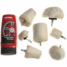 8 pc MOTHERS Chrome Polish Drill  POLISHER BUF KIT Mag