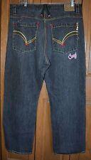 Men's COOGI Jeans 42 X 35 Rainbow NM 41x33 RAINBOW EMBROIDERY POLKA DOTS URBAN