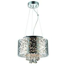Decor Living 6-Light Chrome Medium Helix Chandelier