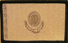Kazakhstan Flag Patch W/ VELCRO® Brand Fastener Morale Military Tan Version #02
