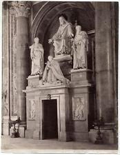 Original vintage 1880s albumen ITALY Roma, the tomb of Pope Pius VIII