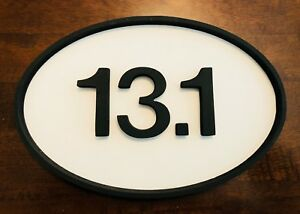"13.1 Marathon MDF Home Decor Wood Sign 12"" 18"" 24"" 36"" Running Race"