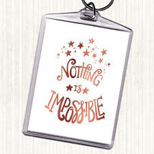 Rose Gold Impossible Unicorn Quote Bag Tag Keychain Keyring