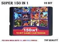 Super 150 in 1 for Sega Genesis Mega Drive 16-Bit Multi Cart Game NTSC and PAL