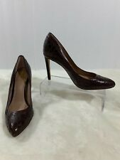 Vince Camuto Womens 'Norrow' Maroon Leather Wedge Pumps Heels Womens Size 6B