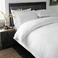 SUPER KING WHITE SOLID 4PC DUVET SET + FITTED SHEET 1000 TC 100% EGYPTIAN COTTON