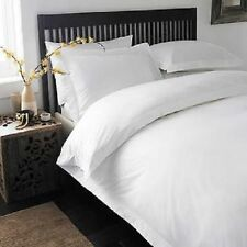 SUPER KING SIZE WHITE SOLID DUVET SET+FITTED SHEET 1000 TC 100% EGYPTIAN COTTON