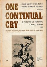 One Continual Cry - PB 1965 - Herbert Aptheker - African American History