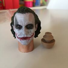 █ Custom Joker MJ12 1/6 Head Sculpt for Hot Toys DX01 DX11 Narrow Shoulder Body