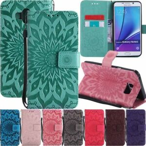For Samsung Galaxy Note 9 8 5 4 3 Leather Wallet Card Slot Flip Phone Case Cover