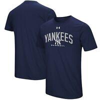New York Yankees Mens Under Armour Arch Heatgear T-Shirt - Large - NWT