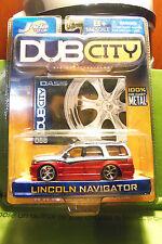 Muscle Machines Dub City Lincoln Navigator Orange Silver w/ Black Stripe C More